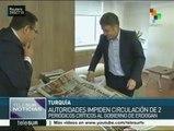 Turquía: impiden circulación de dos periódicos críticos con Erdogan