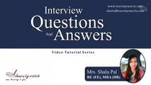 Interview Questions and Answers Series by Shalu Pal   Video 8 English