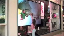 Sony 'Digital Foam' Interactive window display