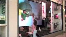 Sony 'Digital Foam' Interactive window display