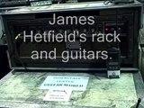 Metallica James Hetfield rack and guitars