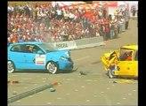 Volkwagen Polo (9N) Vs. Volkwagen Golf (MkI) Frontal Offset Impact (DEKRA Crash Test)