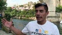 Bosnie: Championnat du monde du plongeon acrobatique à Mostar