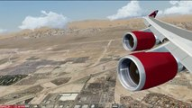 FSX Landing Las Vegas Virgin Atlantic 747