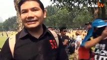Black 505 (3pm)- Padang Merbok: Rafizi arrives at Padang Merbok