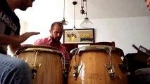 Congas learning, aprendiendo a tocar congas con Fernando Pérez Guatemala
