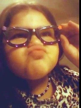 Hannah holiday has new glasses\ hannah is goofy