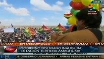 Evo Morales inaugura estación para satélite Túpac Katari en El Alto