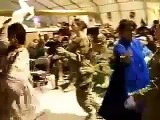 US Female soldiers dance Afghan style