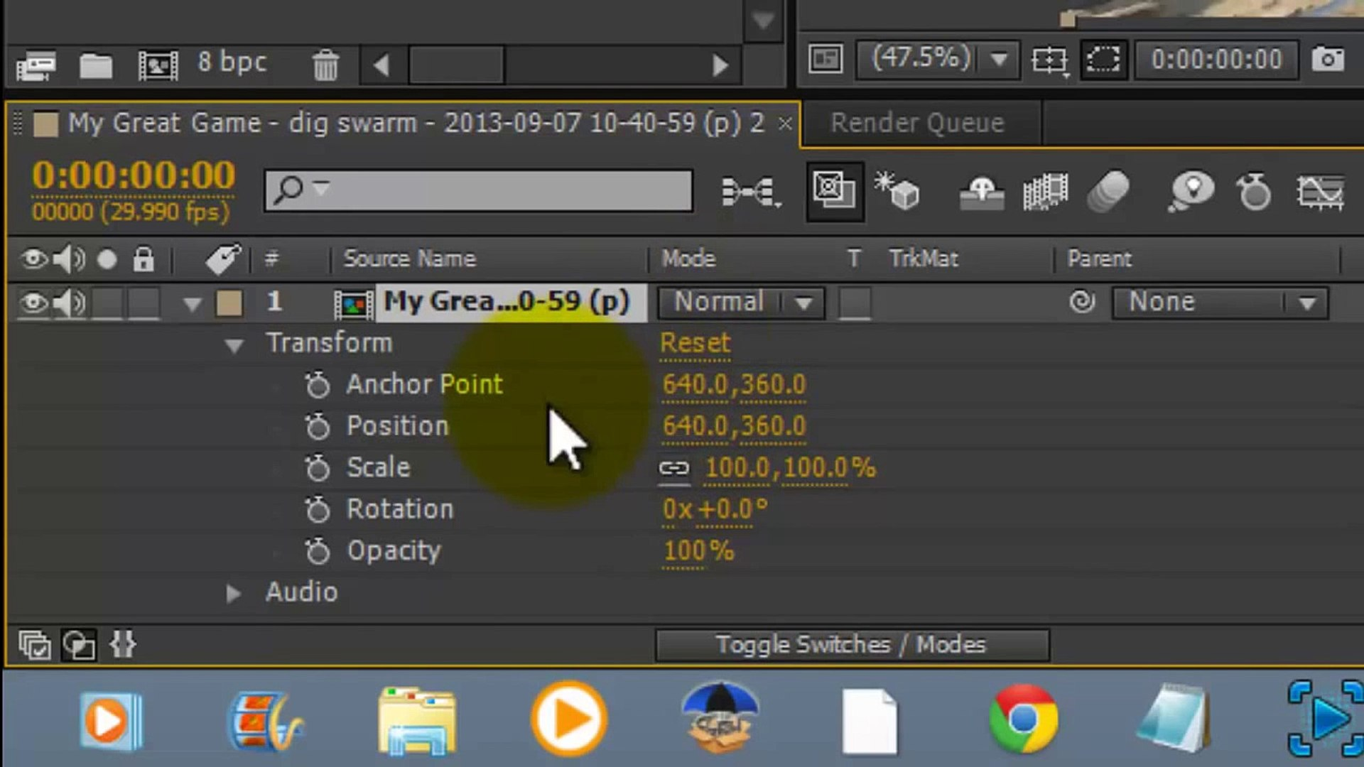 After Effects Tutorial: Fade in Fade Out Effect | After effects CS6  Tutorial Basics #1