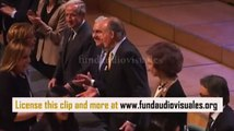 Footage: King Juan Carlos of Spain and Queen Sofia of Spain in Barcelona 02/22/12