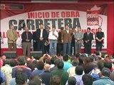 Mandatario dio inicio a obras de mejoramiento y rehabilitación de la carretera Lima-Canta