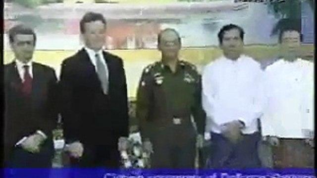 2009-08-14-Myanmar PM General Thein Sein received U.S. Senator Mr. Jim Webb