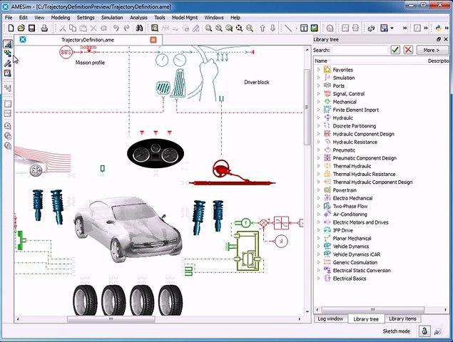 AMESim Vehicle System Dynamics : Trajectory Designer