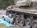 Centurion tank car crushing at Tanks For Everything