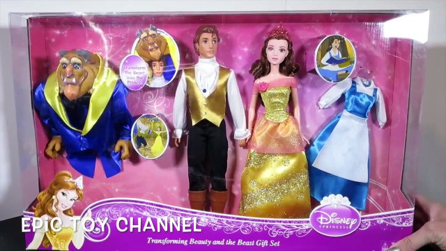 BEAUTY And The BEAST Dolls Disney Princess Belle & Beast Unboxing and Review by EpicToyChannel
