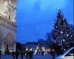 PARIS  iluminada en Navidad, Notre Dame de Paris, Noel á Paris et Notre Dame
