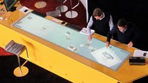 Interactive Multi Touch Table with Touch Configurator Software for Mercedes-Benz Bank
