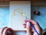 realist apricot fine art oil painting painting techniques speed painting Daniel C. Chiriac
