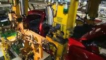 A peek inside the Mazda6 production plant, Hofu 2 in Yamaguchi, Japan.