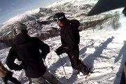 Helmet cam powder skiing - POV Hemsedal, Gummiskogen mars 09