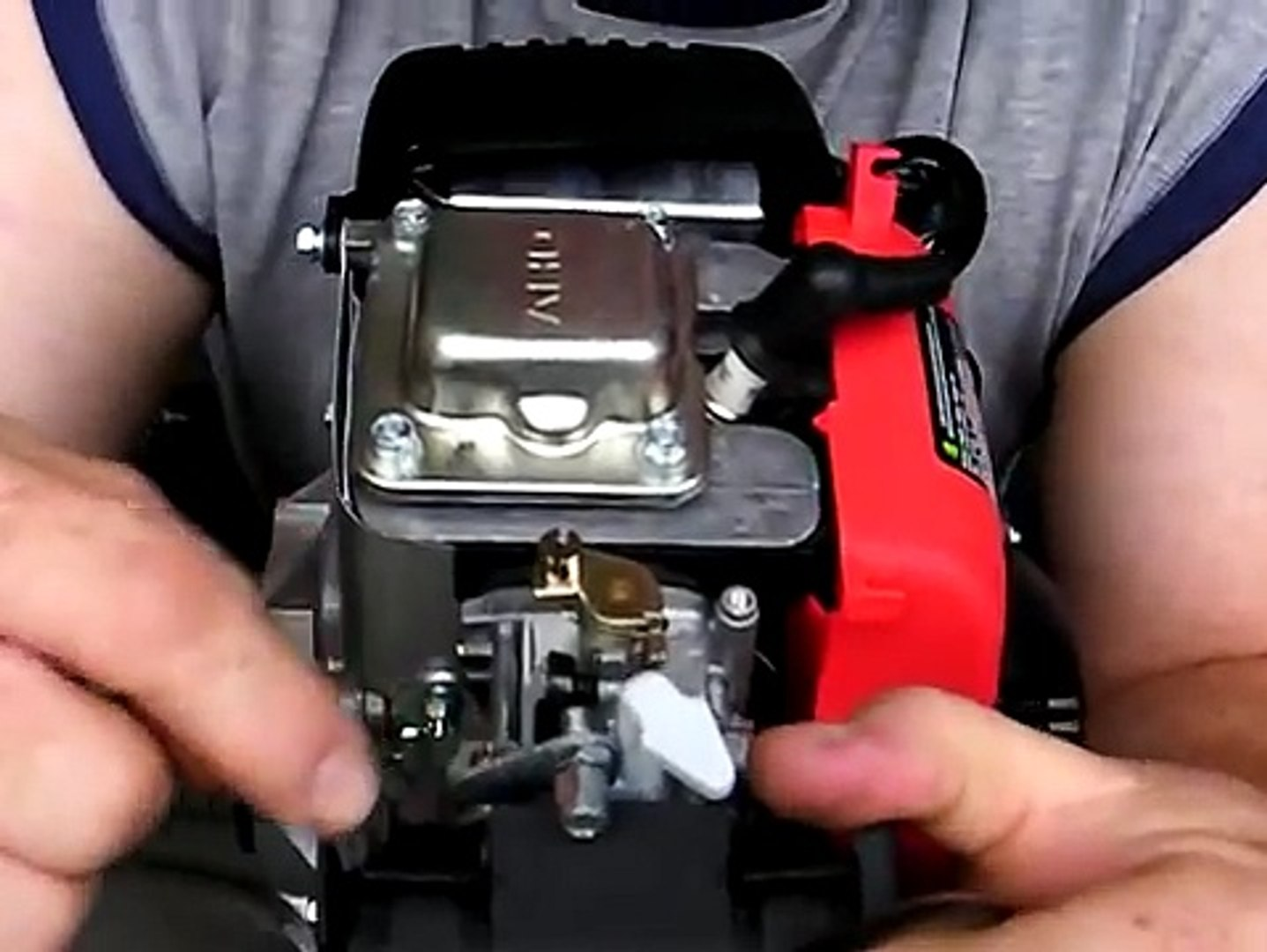 HuaSheng 142F-cc 49cc 4 stroke carburetor demonstration