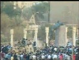 Saddam Hussein statue toppled