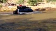 Жесткий брод на Nissan Patrol  Crosses the River