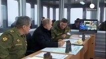 Russische Militärübung bei Sankt Petersburg