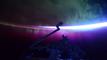 Cinq aurores boréales vues de l'espace