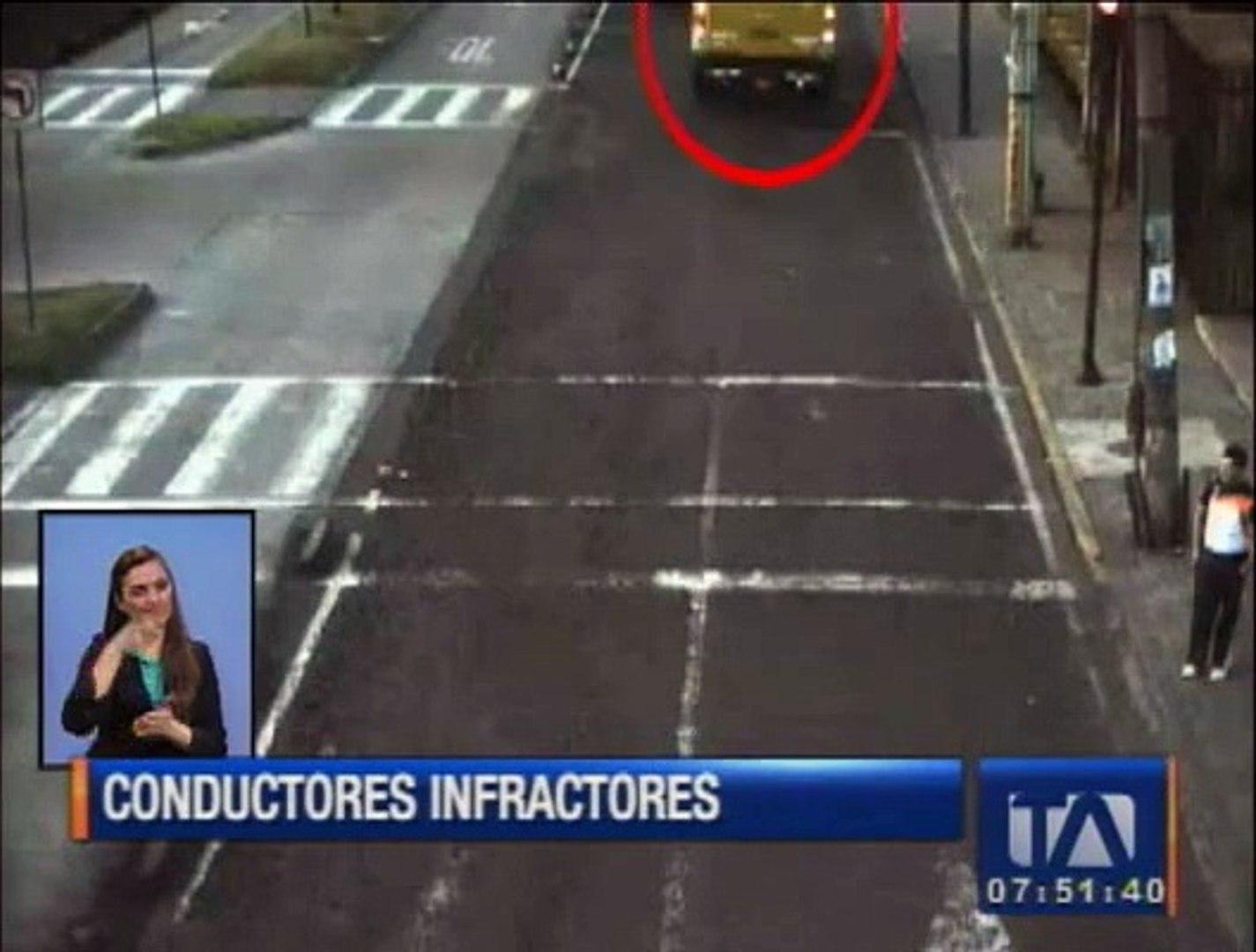 Conductores de transporte público cometen graves infracciones de tránsito en las vías