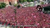Athletic Bilbao é recebido por multidão após título sobre o Barça
