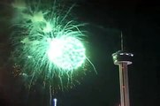 """Happy New Year ! """"2012"""" .. San Antonio Tx USA .. Long Version with Pops/Fireworks"""