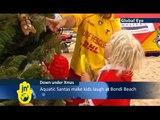 Christmas on Bondi Beach: Australians mark holiday on iconic Sydney beach despite gloomy weather