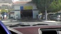 Police Car In The Car Wash / Milpitas / San Jose California