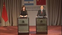 24 de JUN. 40 años de relaciones diplomáticas entre Argentina y China. Cristina Fernández