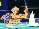 Goku plays around with Goten & Trunks (Gotenks)
