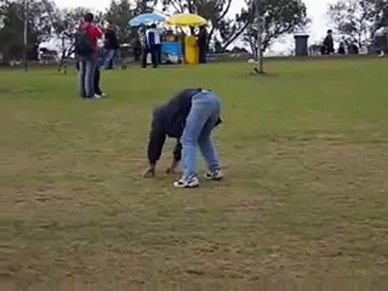 Drunk Guy Falls Down Hill