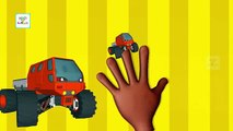 Monster Truck | Finger Family Nursery Rhyme | Monster Truck 3D Cartoon Finger Family Rhymes & Songs