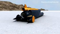 Rocket Car Land Speed Record Attempt Speed More than Bullet