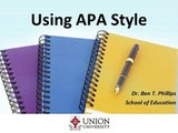 Using APA style for references and citations