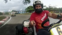 ronald diego y ronald en la pista de karting
