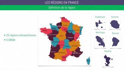 Brevet géographie - Les régions en France