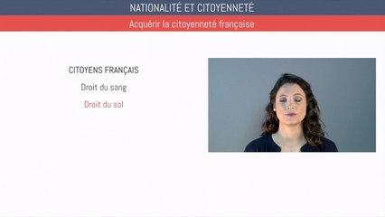 Brevet éducation civique - Nationalité, citoyenneté