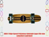 Ridge Skateboards 7-Ply Ahorn Holz Mini Cruiser Board Skateboard komplett 55cm