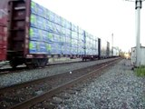 almost 3 train meet with SB CSX mixed freight and coal train