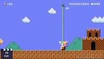 amiibo in Super Mario Maker - Donkey Kong, Peach, Kirby, Yoshi, Luigi, & more