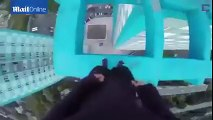 Don't look down: Daredevil's stunts 40 FLOORS above