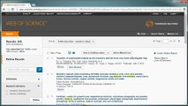 EndNote Online: Adding References from Web of Science