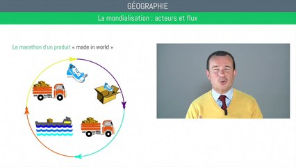 Bac géographie - Mondialisation : acteurs et flux